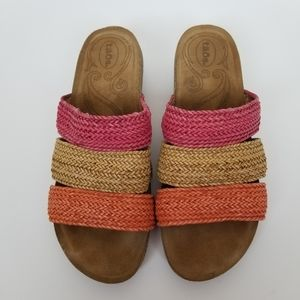 Taos Prudence Multi Color Wedge Sandal size 9-9.5